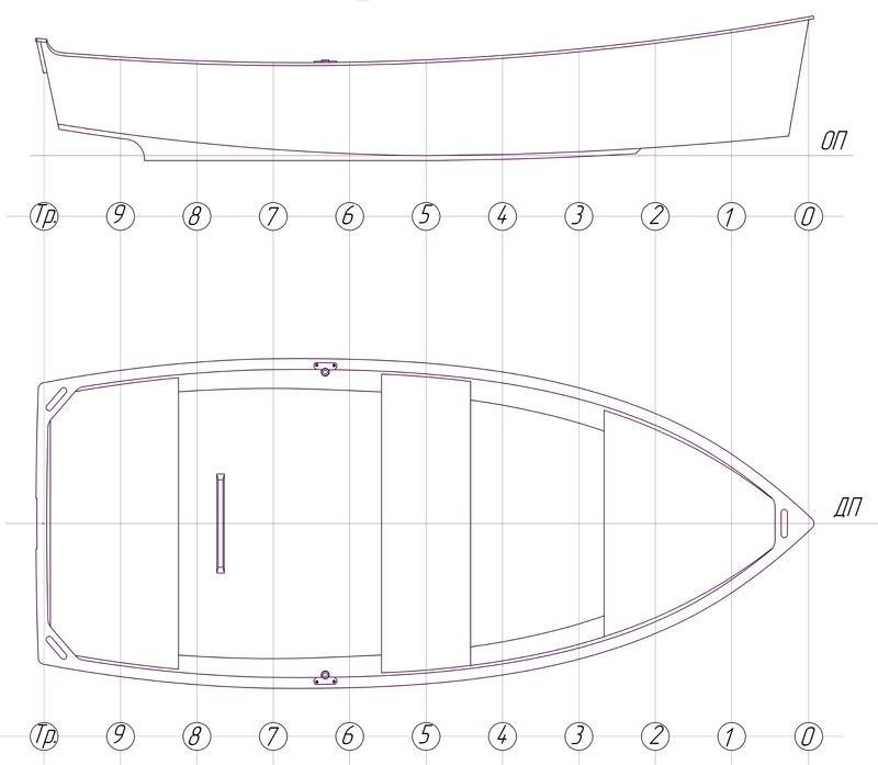 Лодка из фанеры чертежи под мотор 15 л.с